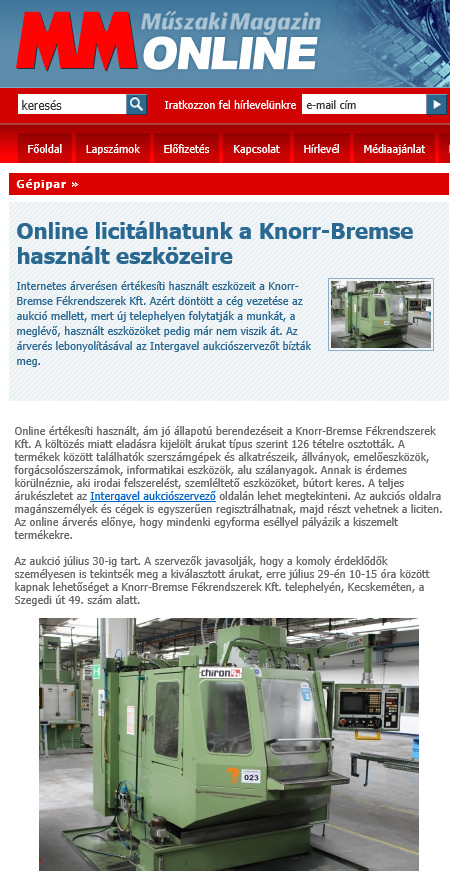 Knorr-Bremse auction