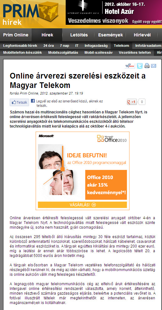 Hungarian Telekom auction