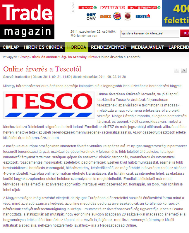 TESCO auction