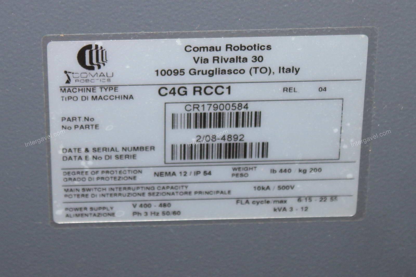 Robot - Smart NS12-1,85 Hand, C4G RCC1; Comau